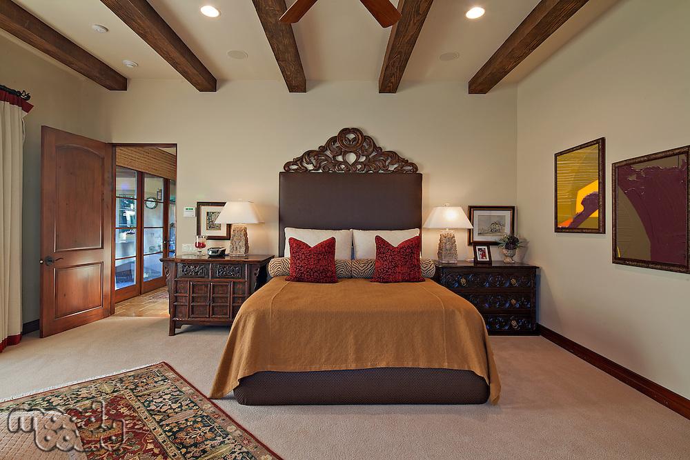 Luxurious bedroom in villa