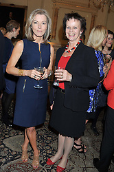Left to right, MARY NIGHTINGALE and ANNE MILTON MP at a reception for Women in Media hosted by the Prime Minister David Cameron at 10 Downing Street, London on16th May 2013.
