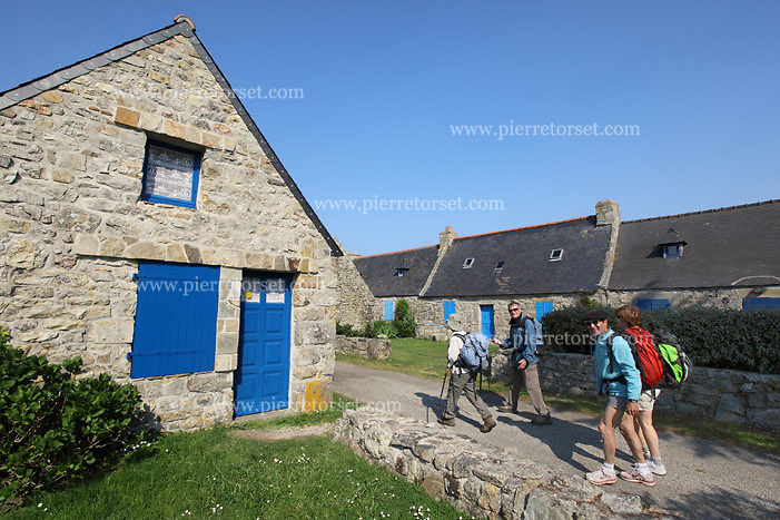 Rostudel, typical breton village in the Crozon peninsula (Finistère, Brittany, France).