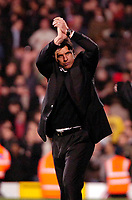Photo: Ed Godden.<br /> Fulham v Arsenal. The Barclays Premiership. 29/11/2006.<br /> Fulham Manager Chris Coleman applauds the fans after his teams victory.