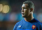 Milton Keynes, Great Britain, French Captain, Thierry DUSAUTOIR, during the , pre match warm up. Pool D Game, France vs Canada.  2015 Rugby World Cup, Venue, StadiumMK, Milton Keynes, ENGLAND.  Thursday  01/10/2015<br /> Mandatory Credit; Peter Spurrier/Intersport-images]