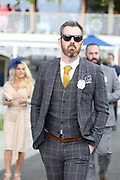 Racegoer at the York Dante Meeting at York Racecourse, York, United Kingdom on 17 May 2018. Picture by Mick Atkins.