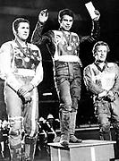 Ivan Mauger celebrates winning the World Speedway Champs, 1969. Photo: PHOTOSPORT