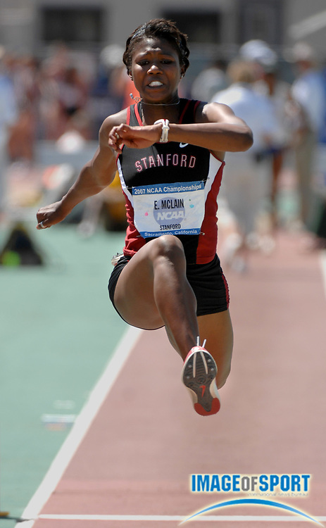 Erica McLain of Stanford was second in the women's triple jump at 44-10 1/4 (13.67m) in the NCAA Track & Field Championships at Sacramento State's Hornet Stadium in Sacramento, Calif. on Saturday, June 9, 2007.