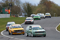 #83 Paul BLACKBURN VW Golf GTi Mk2 during Teekay Couplings Mk2 Production Gti Championship - Race 4  as part of the BRSCC Oulton Park Season Opener at Oulton Park, Little Budworth, Cheshire, United Kingdom. April 09 2016. World Copyright Peter Taylor/PSP. Copy of publication required for printed pictures.  Every used picture is fee-liable. http://archive.petertaylor-photographic.co.uk