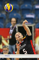 06.09.2014, Krakow Arena, Krakau, POL, FIVT WM, Belgien vs Iran, Gruppe D, im Bild Frank Depestele (BEL) // during the FIVB Volleyball Men's World Championships Pool D Match beween Belgium and Iran at the Krakow Arena in Krakau, Poland on 2014/09/06. EXPA Pictures © 2014, PhotoCredit: EXPA/ Newspix/ Tomasz Jastrzebowski<br /> <br /> *****ATTENTION - for AUT, SLO, CRO, SRB, BIH, MAZ, TUR, SUI, SWE only*****