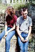 Lucy and Symond. Hawthorne Road, High Wycombe, UK, 1980s.