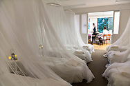 Corne tupplurscafé, ett café med enklare matservering och en sovsal där kunderna kan ta en tupplur mitt på dagen, Tokyo, Japan