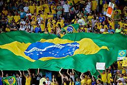 Torcida brasileira durante o jogo amistoso entre as seleções de Brasil e Hoalnda no estádio Arena da Baixada, em Goiânia, Brasil, em 04 de junho de 2011. FOTO: Jefferson Bernardes/Preview.com