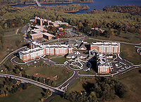 Aerial Photo of Mercy Riddge Senior Living with Loch Raven Reservoir in background