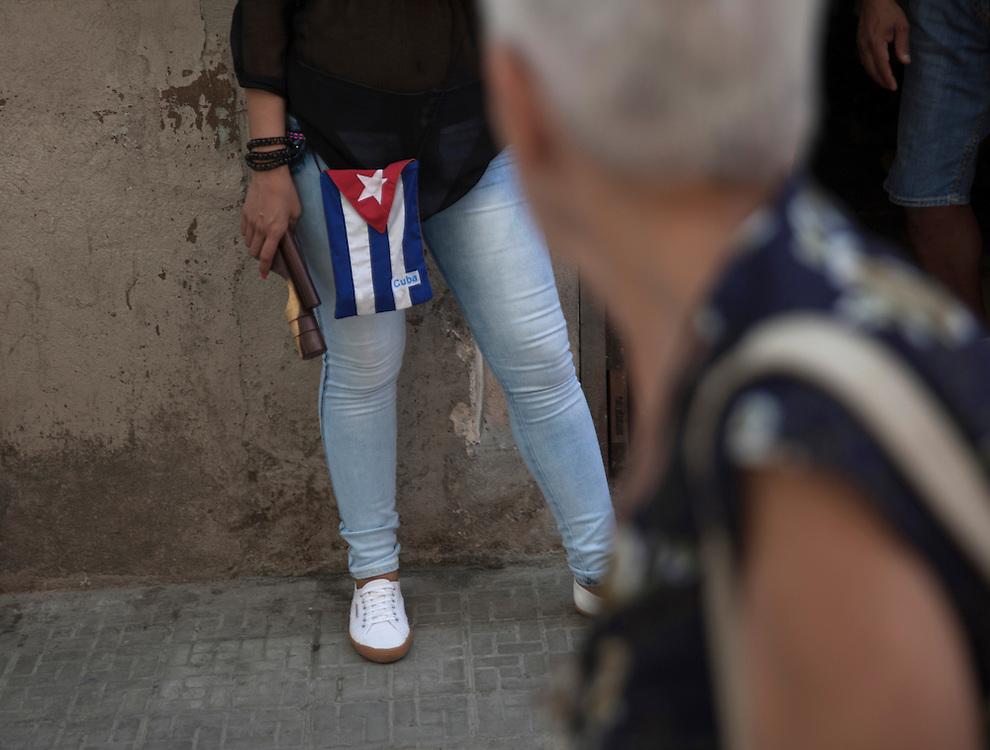 Local scene on a street in Old Havana, Cuba.