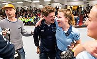 HAMBURG  (Ger) - Match 20,  for FINAL, LMHC Laren - Dinamo Elektrostal (Rus) (3-1).  Photo: European Champion , LMHC Laren. ,Thijs Roozendaal, Fabienne Roosen (Laren)   Eurohockey Indoor Club Cup 2019 Women . WORLDSPORTPICS COPYRIGHT  KOEN SUYK