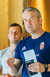 30.05.2016, Forsthofgut, Leogang, AUT, UEFA Euro, Frankreich, Vorbereitung Ungarn, Training, im Bild Ungarns Nationaltrainer Bernd Storck // Hungarian national team Coach Bernd Storck during a training session at the Trainingscamp of Team Hungary for Preparation of the UEFA Euro 2016 France at the Forsthofgut in Leogang, Austria on 2016/05/30. EXPA Pictures © 2016, PhotoCredit: EXPA/ JFK