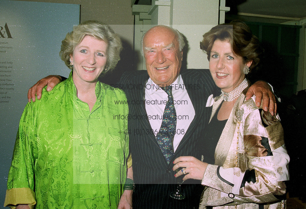 Left to right,MRS JENNIFER d'ABO, her former husband MR PETER CADBURY and their daughter MRS CHARLES FARR, at a reception in London on 12th June 1997.LZH 55