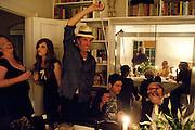ROBERT PERENO; TIM NOBLE, Dinner at Robert and Babette Pereno's. Jermyn St. London.. 4 September 2009.