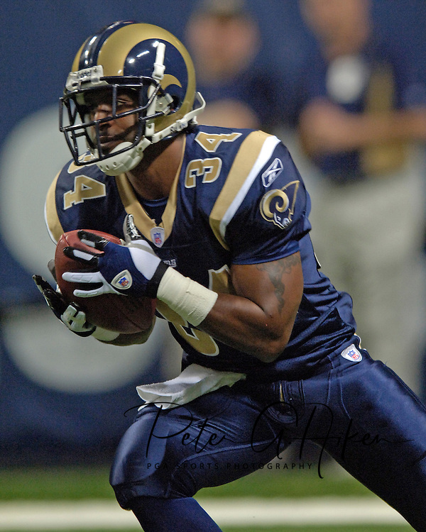 St. Louis Rams kick returner David Allen returns a kick-off in the first half against Arizona at the Edward Jones Dome in St. Louis, Missouri, November 20, 2005.  The Cardinals beat the Rams 38-28.