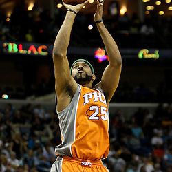 April 8, 2011; New Orleans, LA, USA; Phoenix Suns shooting guard Vince Carter (25) against the New Orleans Hornets during the fourth quarter at the New Orleans Arena. The Hornets defeated the Suns 109-97.   Mandatory Credit: Derick E. Hingle