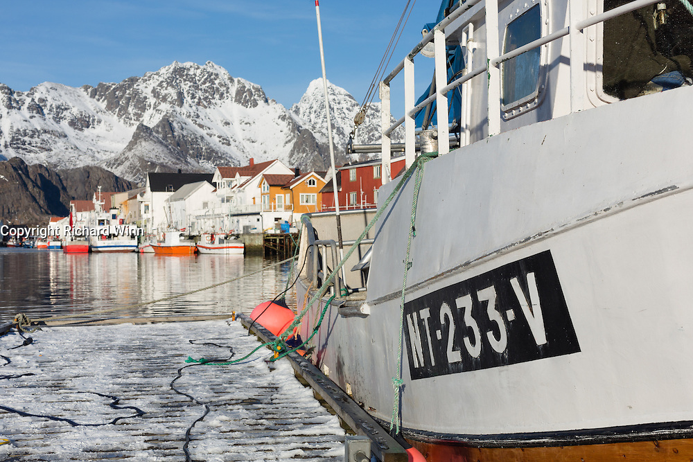 Henningsvær harbour, in the Lofoten Islands of Northern Norway.