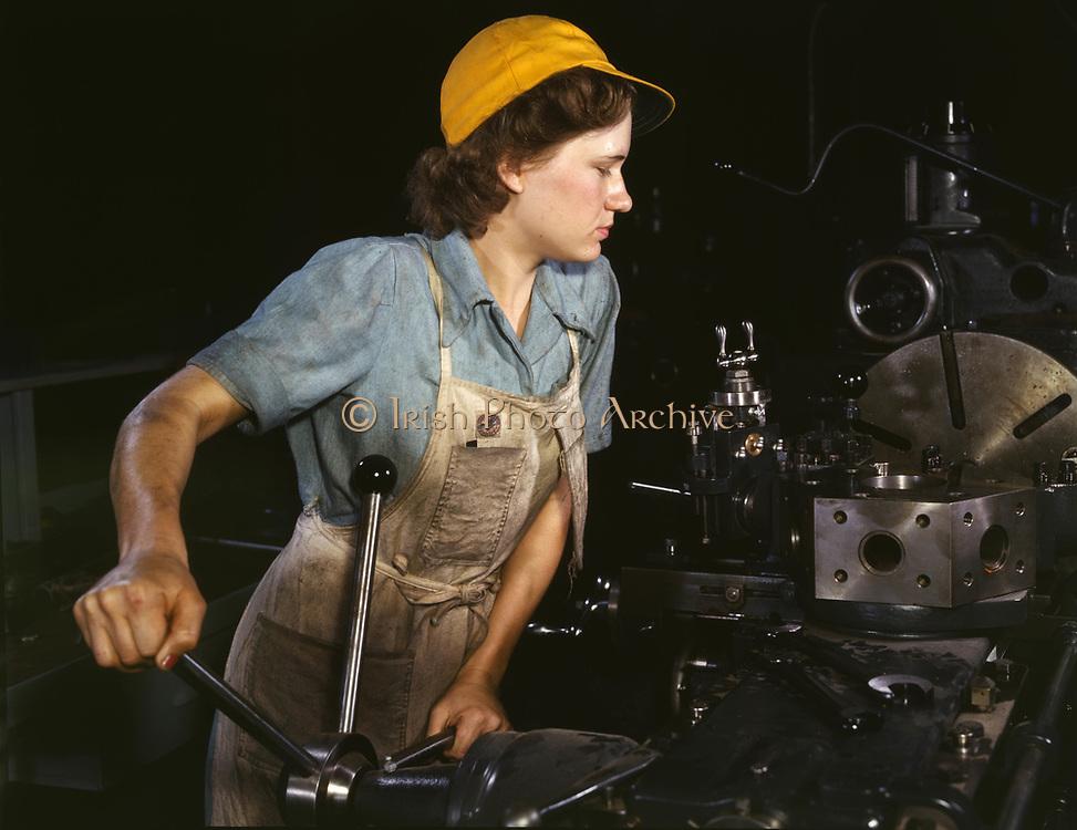 Female industrial worker, Second World War, USA 1940's
