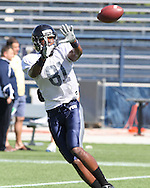 Jairus Williams Catches a pass during the Spring Game for FIU in the Cage.
