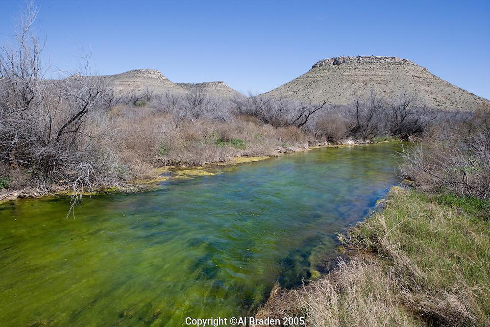 Pecos River near Iraan, Texas
