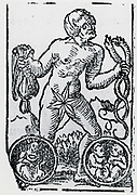 Planetary figure of Mercury. From 'Sphaera mundi', Strasburg, 1539.