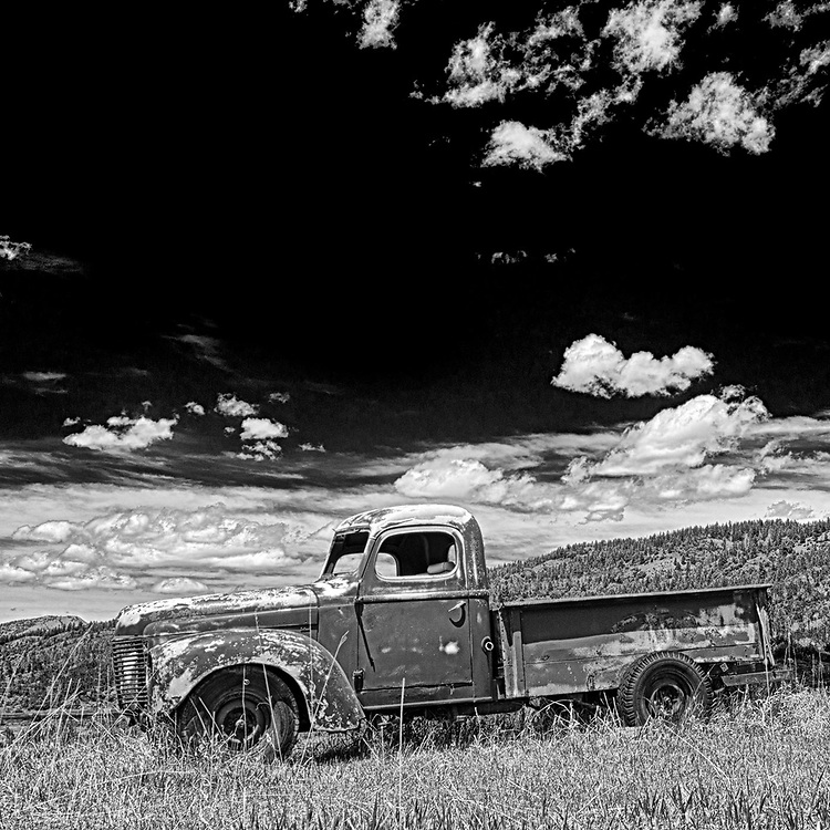 An aging pick-up truck in Star Valley, Wyoming.