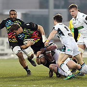 Parma - Stadio Lanfranchi  01/06/2018<br /> Guinness Pro14<br /> Zebre vs Glasgow Warriors<br /> <br /> David Sisi placcato dalla difesa scozzese