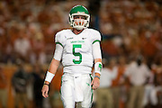 AUSTIN, TX - AUGUST 30:  Andrew McNulty #5 of the North Texas Mean Green looks on against the Texas Longhorns on August 30, 2014 at Darrell K Royal-Texas Memorial Stadium in Austin, Texas.  (Photo by Cooper Neill/Getty Images) *** Local Caption *** Andrew McNulty