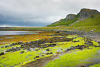 Low tide along the Eastern shore of Isle of Skye Scotland