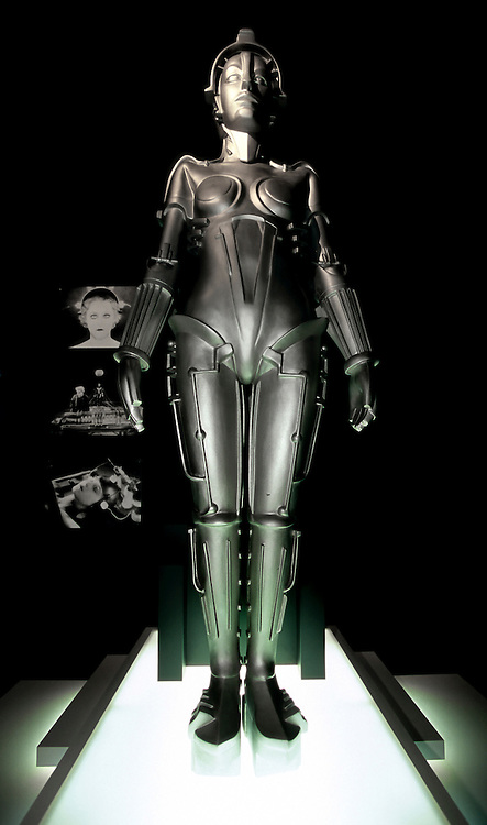 Japan, Nagoya, Nagoya Robot Museum. March/09/2007...Maria the Robot in Metropolis. The science fiction film Metropolis, the 1927 masterpiece of German director Fritz Lang, portrays the struggle between capitalists and the working class in a city of the future. What truly struck viewers, however, was not the rather laboriously told political saga. Rather, it was the robot version ?ÄúMaria?Äù created to impersonate the beautiful real flesh and blood Maria in the quest to appeal for a compromise to the social crisis. The sight of the metallic beauty, which appears in only one scene involving the duplication of the real Maria into a picture-perfect copy, marked the origin of science fiction aesthetics that can be traced all the way to the Star Wars series and beyond.