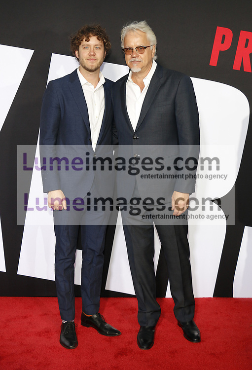 Tim Robbins and Jack Henry Robbins at the Los Angeles premiere of 'Blockers' held at the Regency Village Theatre in Westwood, USA on April 3, 2018.