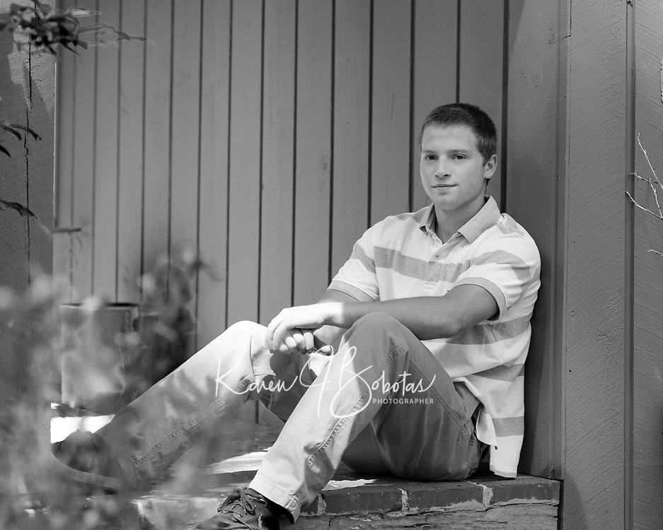 Carter senior portrait session.  ©2015 Karen Bobotas Photographer