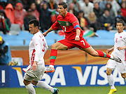 CAPE TOWN, SOUTH AFRICA, MONDAY 21 June 2010, Cristiano Ronaldo of Portugal during the match between Portugal and Korea PRK held at the new Cape Town Stadium in Green Point during the 2010 FIFA World Cup..Photo by Roger Sedres/Image SA