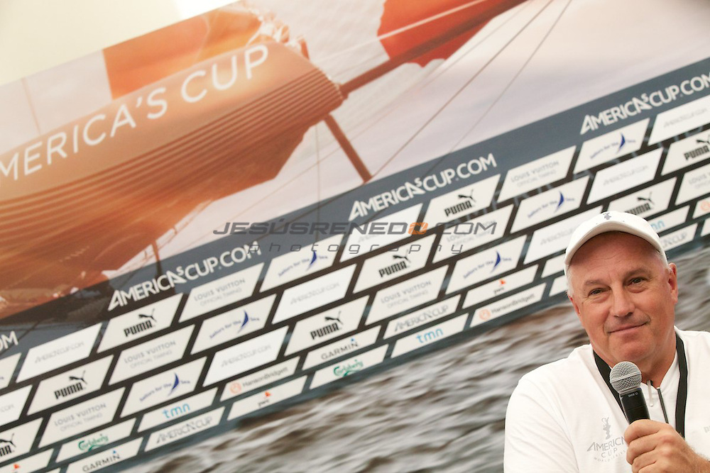 AC World Series,Cascais,Portugal.Iain Murray,Regatta Director for the ACWS and Americas cCup events.
