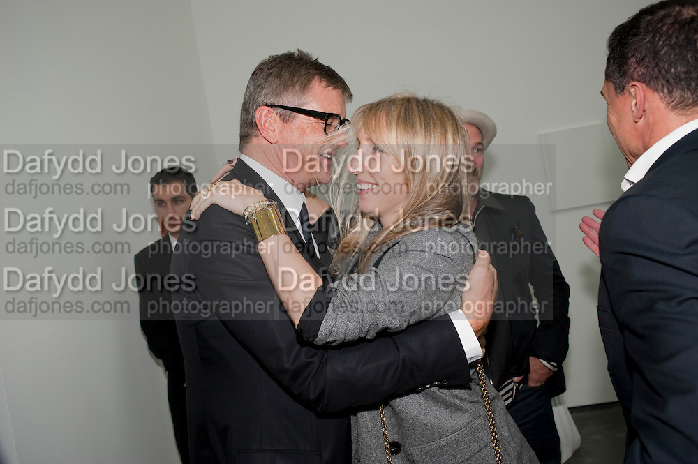 JAY JOPLING; SAM TAYLOR WOOD, Opening of new White Cube Gallery in Bermondsey. London. 11 October 2011. <br /> <br />  , -DO NOT ARCHIVE-© Copyright Photograph by Dafydd Jones. 248 Clapham Rd. London SW9 0PZ. Tel 0207 820 0771. www.dafjones.com.