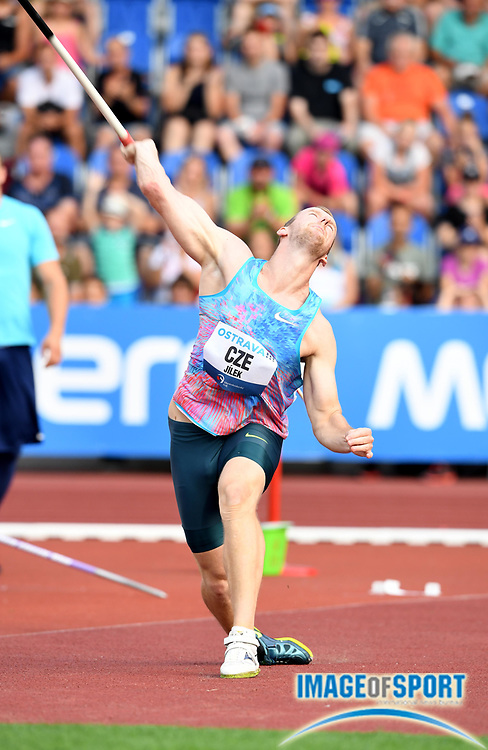 Jaroslav Jilek (CZE) places fifth in the javelin with a throw of 270-9 (82.54m) during the 56th Ostrava Golden Spike in an IAAF World Challenge meeting at Mestky Stadion in Ostrava, Czech Republic on Wednesday, June 28, 20017. (Jiro Mochizuki/Image of Sport)