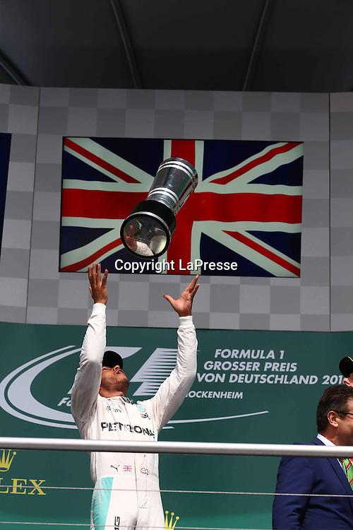 &copy; Photo4 / LaPresse<br /> 31/07/2016 Hockenheim, Germany<br /> Sport <br /> Grand Prix Formula One Germany 2016<br /> In the pic: Lewis Hamilton (GBR) Mercedes AMG F1 W07 Hybrid