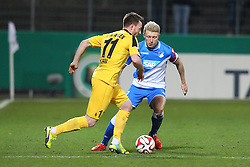 03.03.2015, Scholz Arena, Aalen, GER, DFB Pokal, VfR Aalen vs TSG 1899 Hoffenheim, Achtelfinale, im Bild Michael Klauss (VfR Aalen) rechts Andreas Beck ( TSG 1899 Hoffenheim ) // during German DFB Pokal last sixteen match between VfR Aalen and TSG 1899 Hoffenheim at the Scholz Arena in Aalen, Germany on 2015/03/03. EXPA Pictures © 2015, PhotoCredit: EXPA/ Eibner-Pressefoto/ Langer<br /> <br /> *****ATTENTION - OUT of GER*****