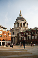 Dome of St. Paul's Cathedral, London, England.