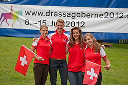 Team Switzerland Ackermann Sabrina, Hartmann Anthea, Tardin Dominique, Von Bremen Philine<br /> FEI European Dressage Championships for Young Riders and Juniors 2011<br /> © Hippo Foto - Leanjo de Koster