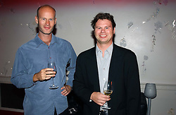 Left to right, brothers TOM WRIGHT and TIM WRIGHT sons of Chris Wright at the 60th birthday party for Chris Wright held at Sketch, Conduit Street, London W1 on 7th September 2004.