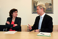 THE NETHERLANDS-THE HAGUE. March 31, 2005. Dutch politician Geert Wilders. 31-03-05. Den Haag. Geert Wilders bij de kiesraad. Photo: Gerrit de Heus