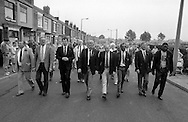 Front of the march. 1990 Yorkshire Miner's Gala. Rotherham.