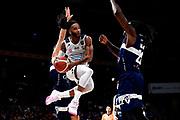 NIKON D5 • AF-S Nikkor 70-200mm f/2.8E FL ED VR<br /> f/3.5 • ISO 2000 • 1/1250<br /> <br /> BanksAdrian <br /> Happy Casa Brindisi - Pompea Fortitudo Bologna <br /> LBA Final Eight 2020 Zurich Connect - Semifinale<br /> Basket Serie A LBA 2019/2020<br /> Pesaro, Italia - 15 February 2020<br /> Foto Mattia Ozbot / CiamilloCastoria