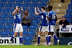 Ched Evans of Chesterfield celebrates his goal  - Mandatory by-line: Matt McNulty/JMP - 02/08/2016 - FOOTBALL - Pro Act Stadium - Chesterfield, England - Chesterfield v Leicester City - Pre-season friendly
