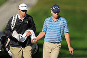 Justin Leonard and his caddie on the North Course during the pro-am prior to the Farmers Insurance Open at Torrey Pines on Jan. 25, 2012 in San Diego, California...©2012 Scott A. Miller