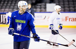 Andrej Tavzelj of Slovenia during practice session of Team Slovenia at the 2017 IIHF Men's World Championship, on May 8, 2017 in Accorhotels Arena in Paris, France. Photo by Vid Ponikvar / Sportida