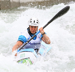 27.06.2015, Verbund Wasserarena, Wien, AUT, ICF, Kanu Wildwasser Weltmeisterschaft 2015, K1 women, im Bild Costanza Bonaccorsi (ITA) // during the final run in the women's K1 class of the ICF Wildwater Canoeing Sprint World Championships at the Verbund Wasserarena in Wien, Austria on 2015/06/27. EXPA Pictures © 2014, PhotoCredit: EXPA/ Sebastian Pucher