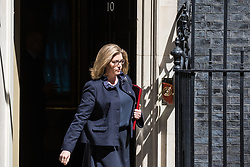London, UK. 16 July, 2019. Penny Mordaunt MP, Secretary of State for Defence, leaves 10 Downing Street following a Cabinet meeting.
